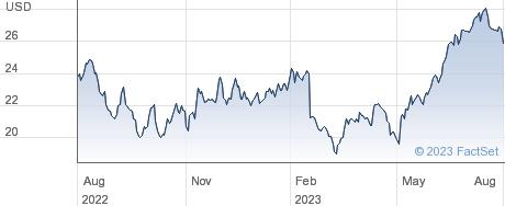 Dropbox Inc performance chart