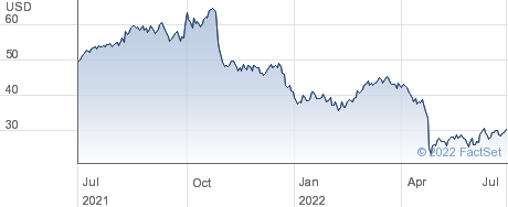 National Vision Holdings Inc performance chart